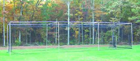 baseball backstops, baseball pitching screens, batting cages